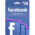 بطاقة فيس بوك كريديت 10$ (عالمى)